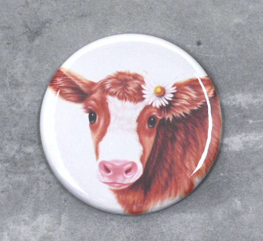 Lehmä Ruskea -Nappi