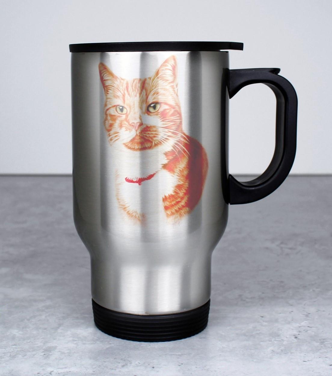 Punainen Kissa ja Kaulapanta -Termosmuki