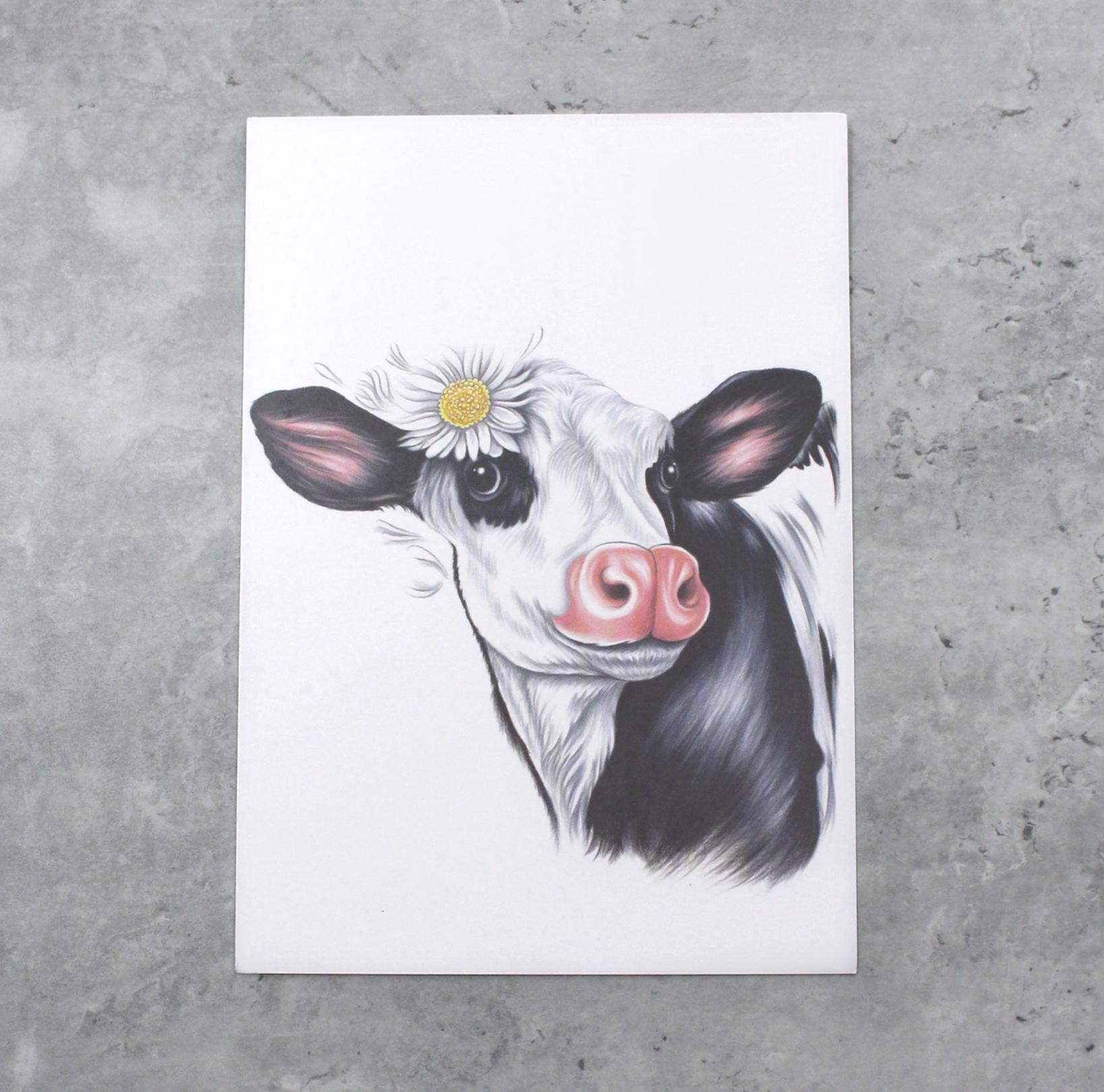 Lehmä Mustavalkoinen -Postikortti