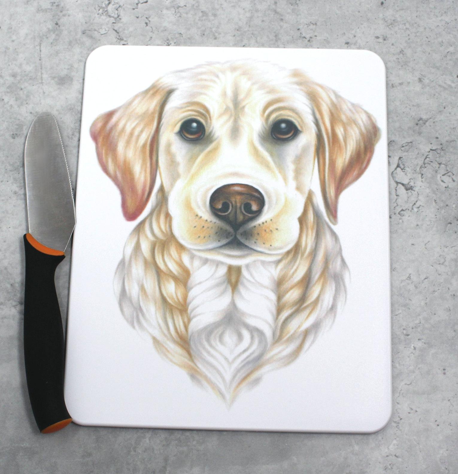 Kultainennoutaja / Vaalea Labradorinnoutaja -Leikkuulauta (Koirarodut)