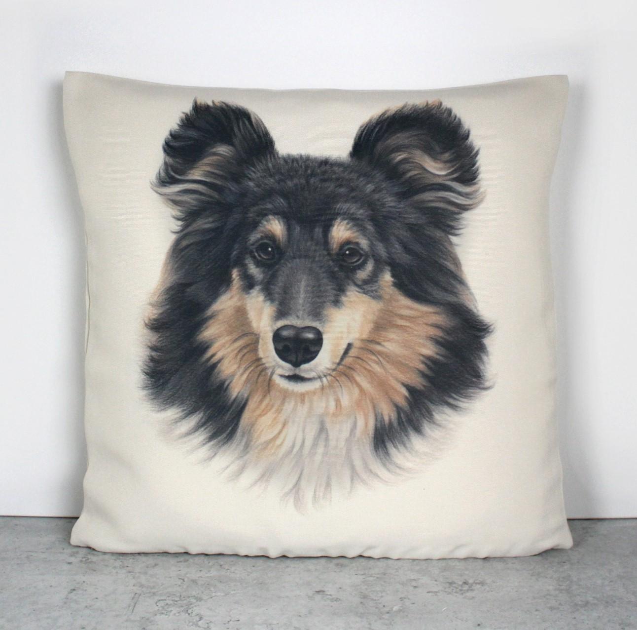 Collie Tricolor -Sisustustyyny (Koirarodut)