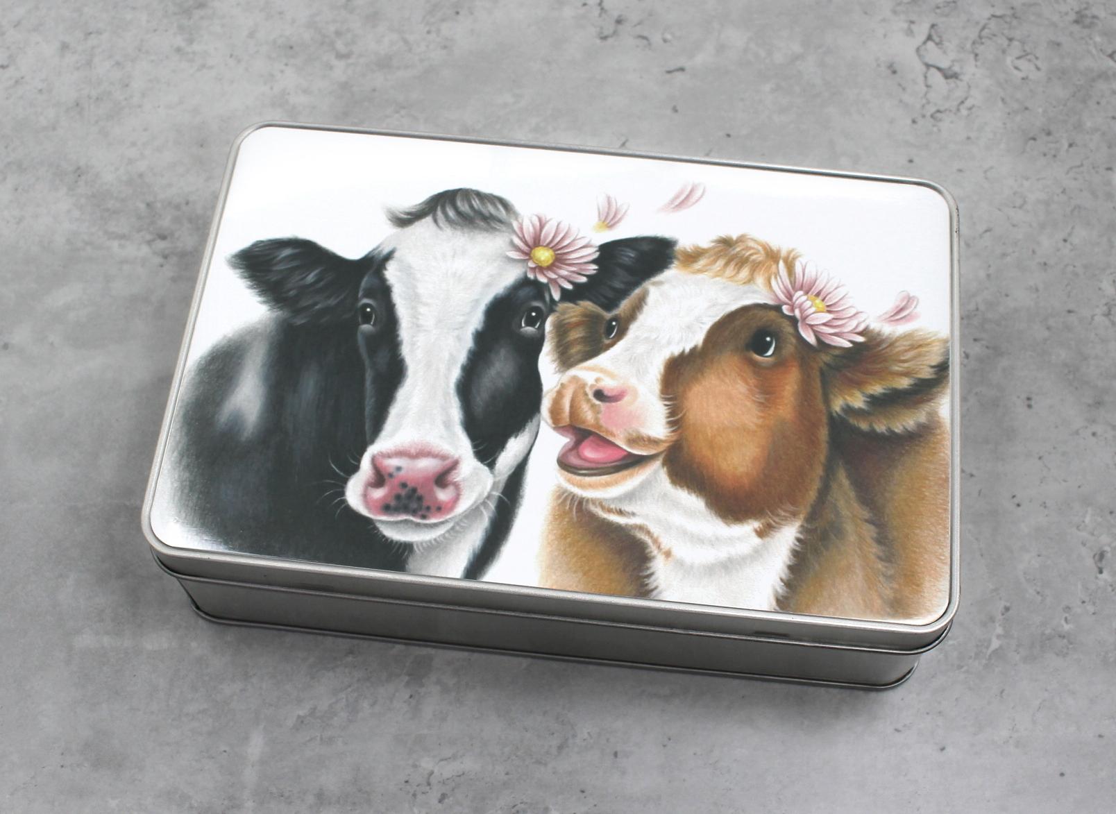 Lehmäpari -Peltirasia
