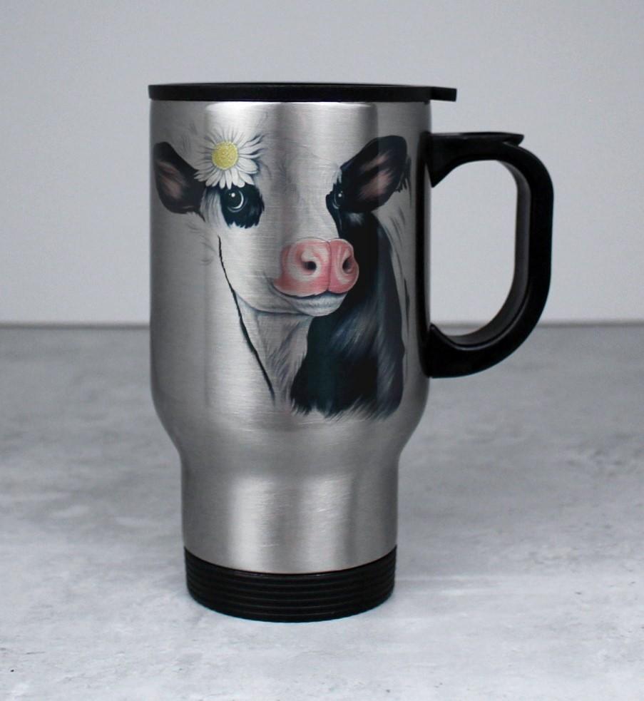 Lehmä Mustavalkoinen -Termosmuki