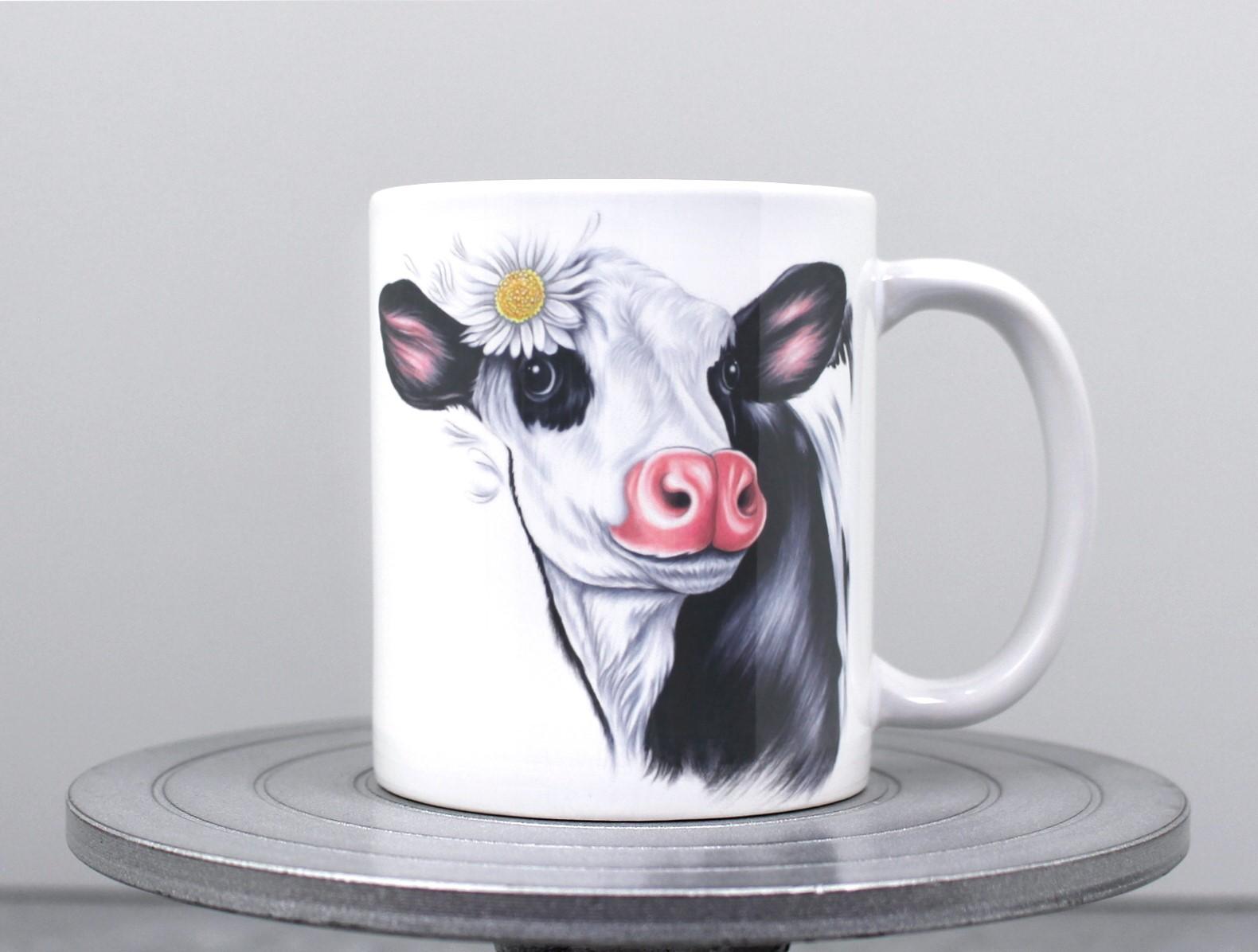 Lehmä Mustavalkoinen -Muki
