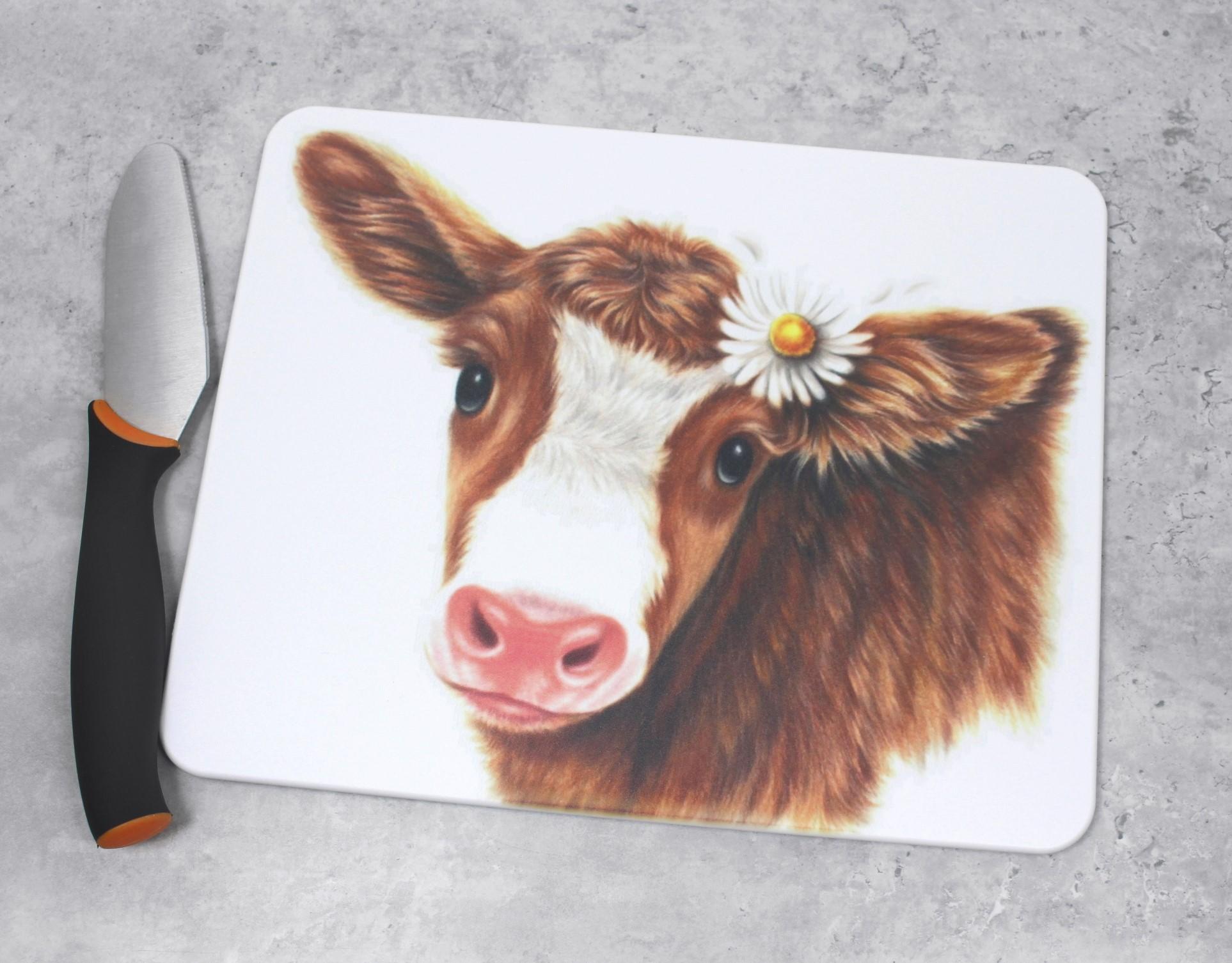 Lehmä Ruskea -Leikkuulauta