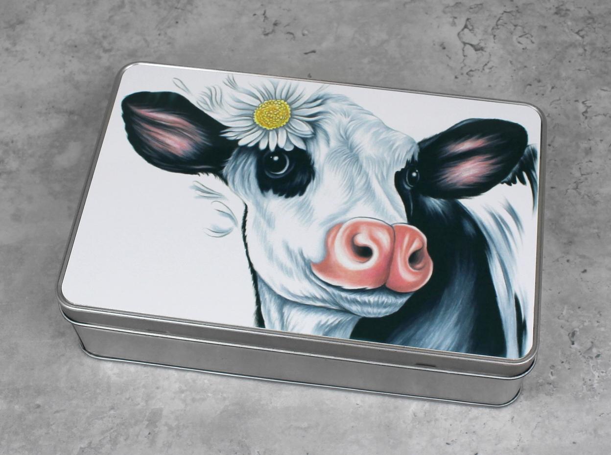 Lehmä Mustavalkoinen -Peltirasia
