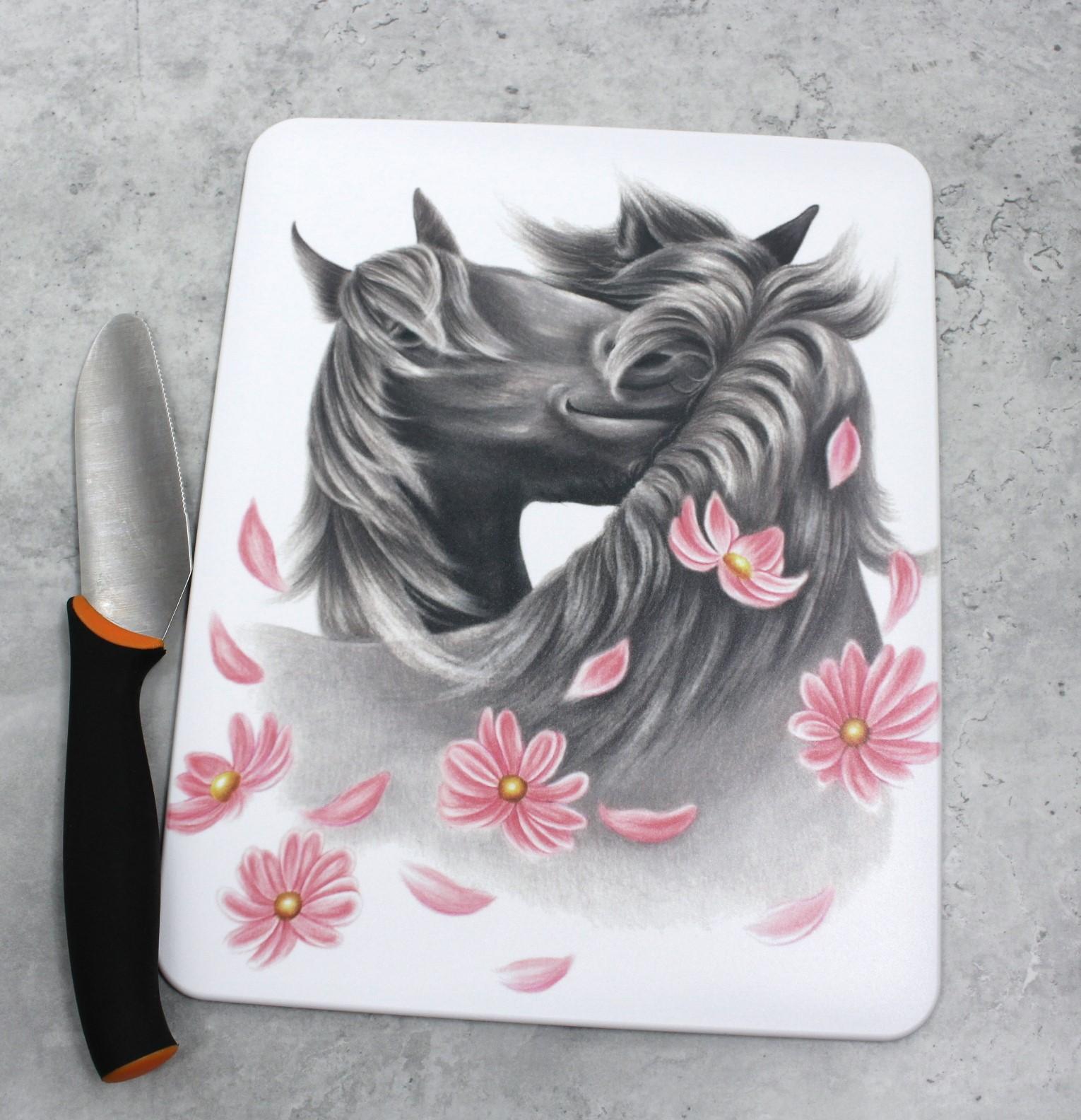 Hevoset ja kukat -Leikkuulauta (Hevonen)