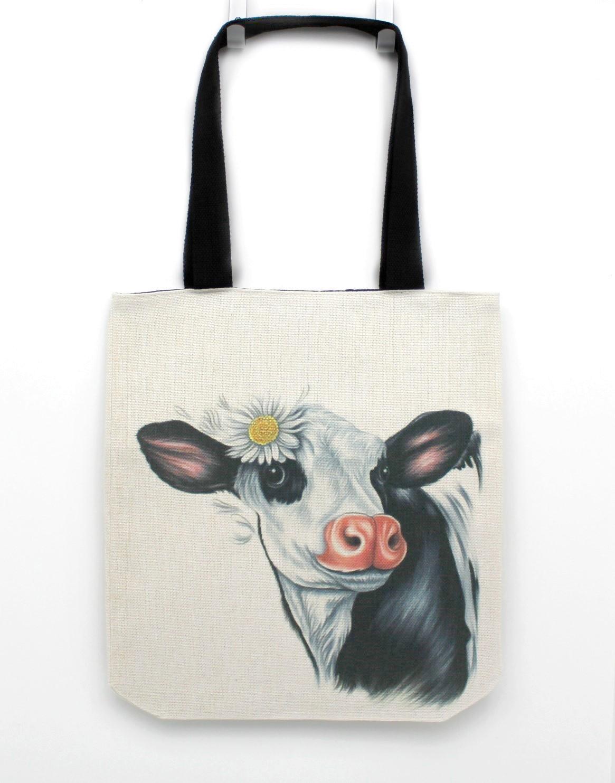 Lehmä Mustavalkoinen -Kassi