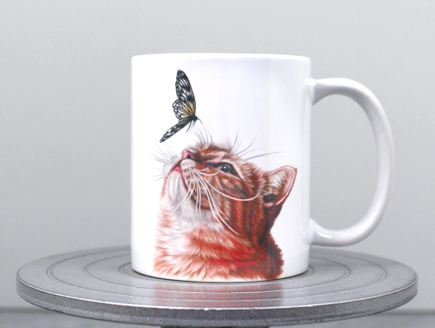 Kissa ja perhonen -Muki