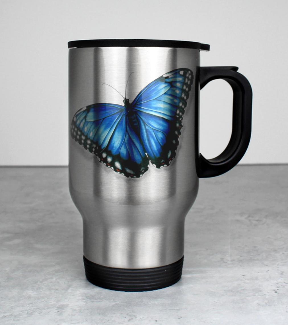 Perhonen Sininen -Termosmuki