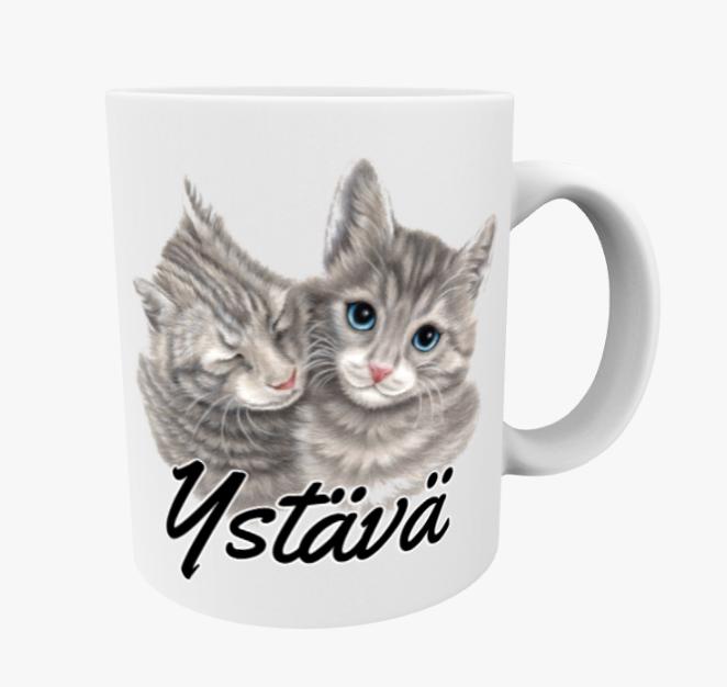 Ystävä / Kissapari -Muki