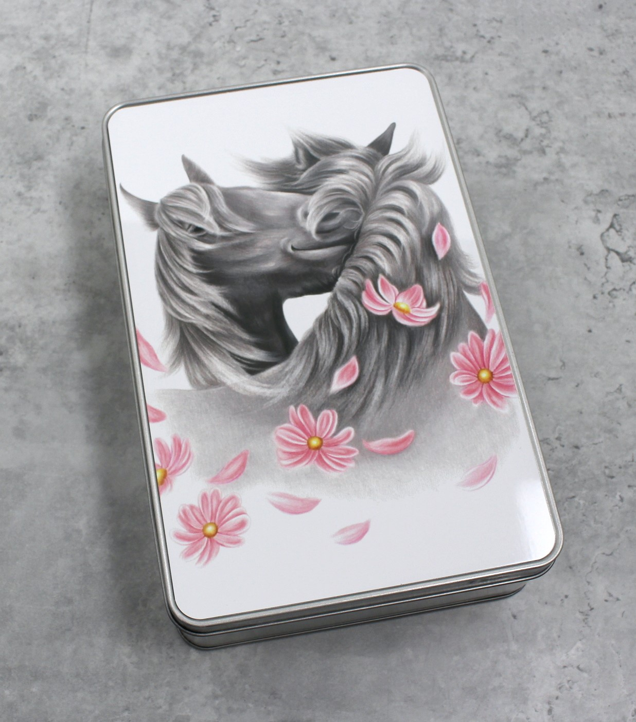 Hevoset ja kukat -Peltirasia (Hevonen)