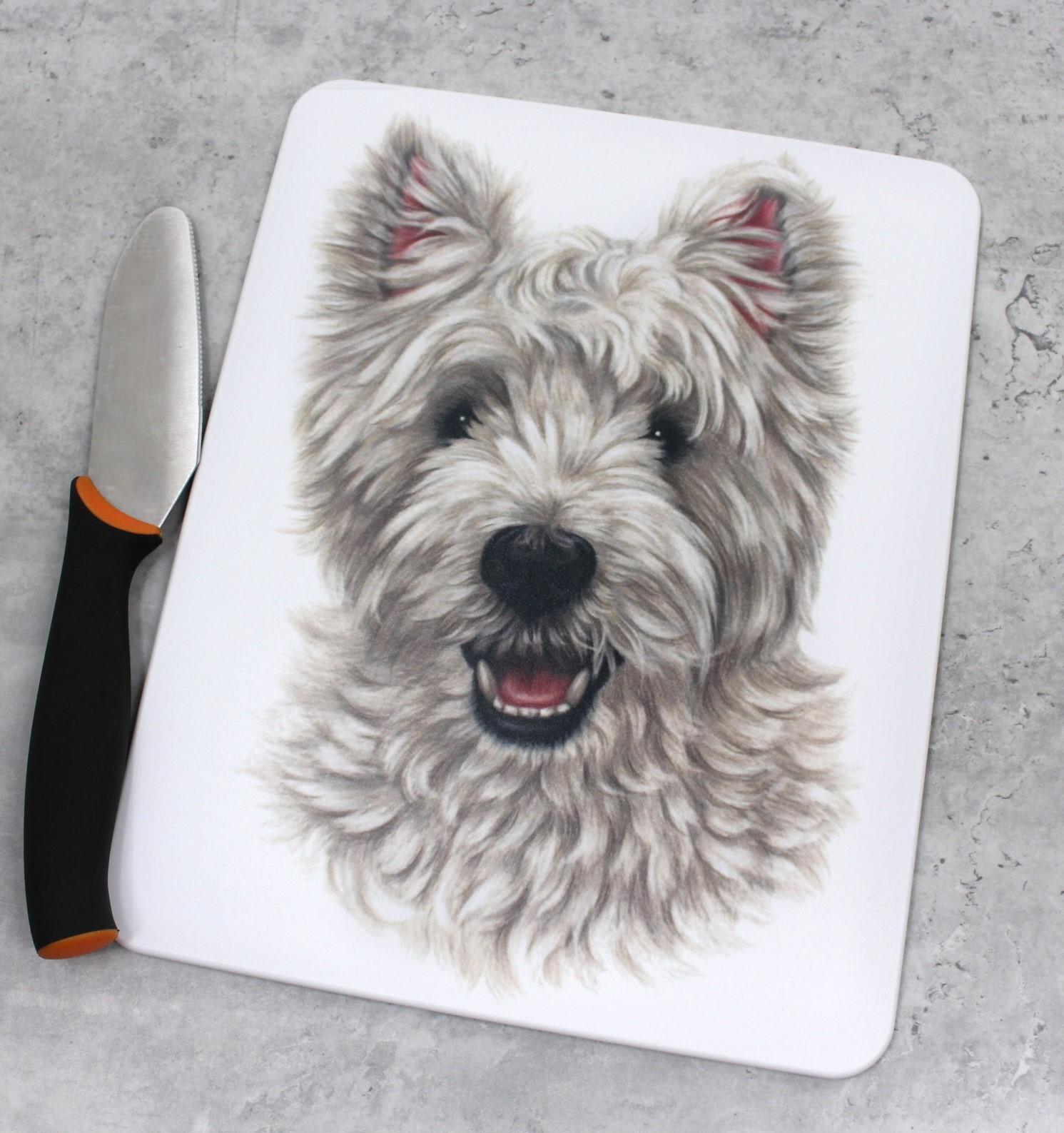 Westie Valkoinen Länsiylämaanterrieri -Leikkuulauta (Koirarodut)
