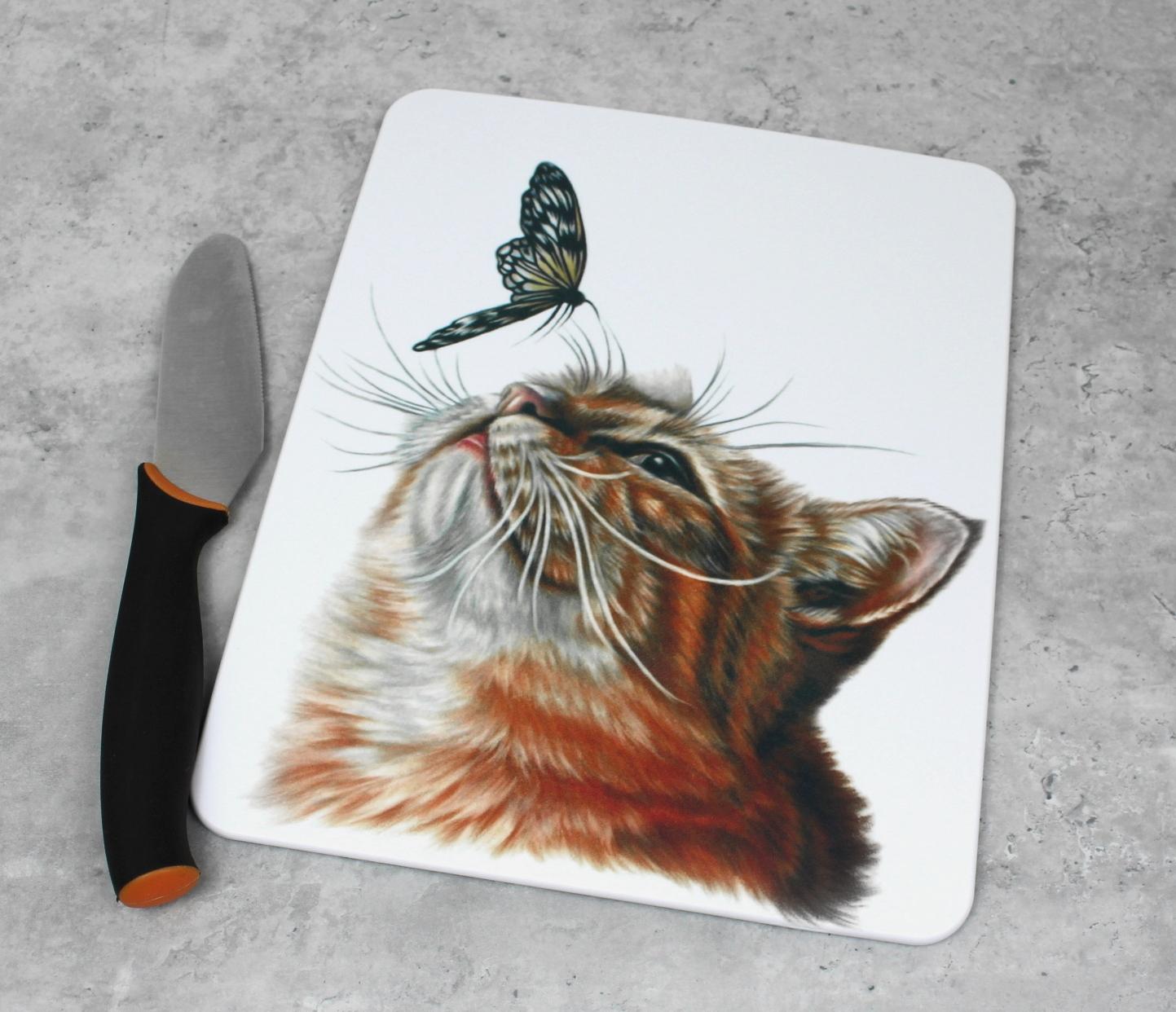 Kissa ja perhonen -Leikkuulauta