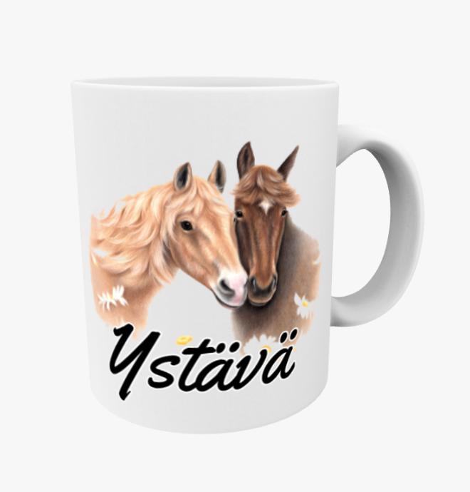 Ystävä / Hevospari Ruskeat -Muki (Hevonen)