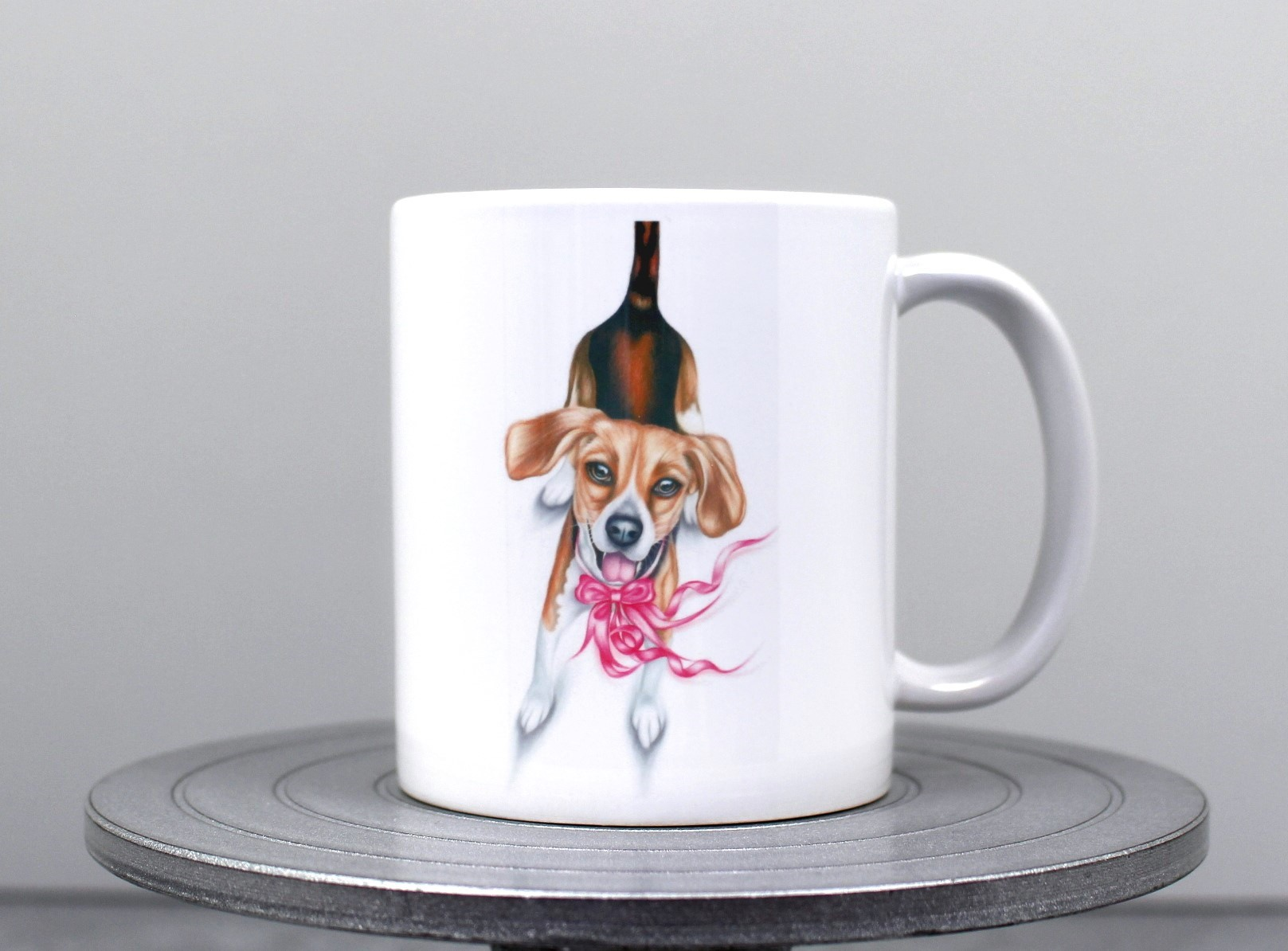 Beagle ja rusetti -Muki (Koirarodut)
