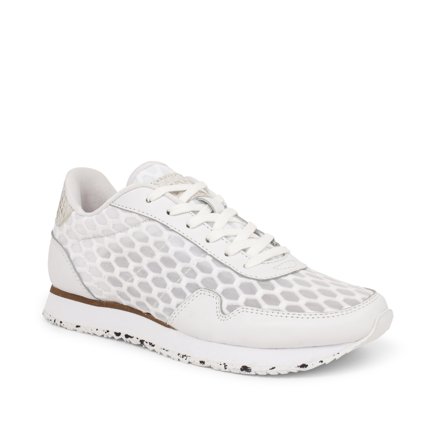 Nora III Mesh Leather Bright White