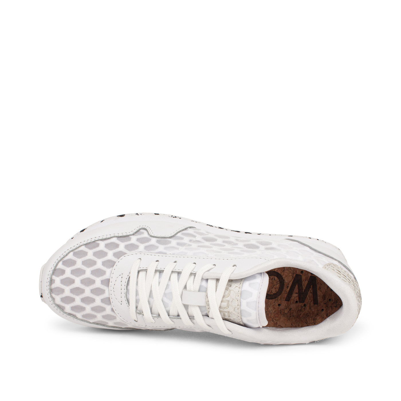 Nora III Mesh Leather Bright White