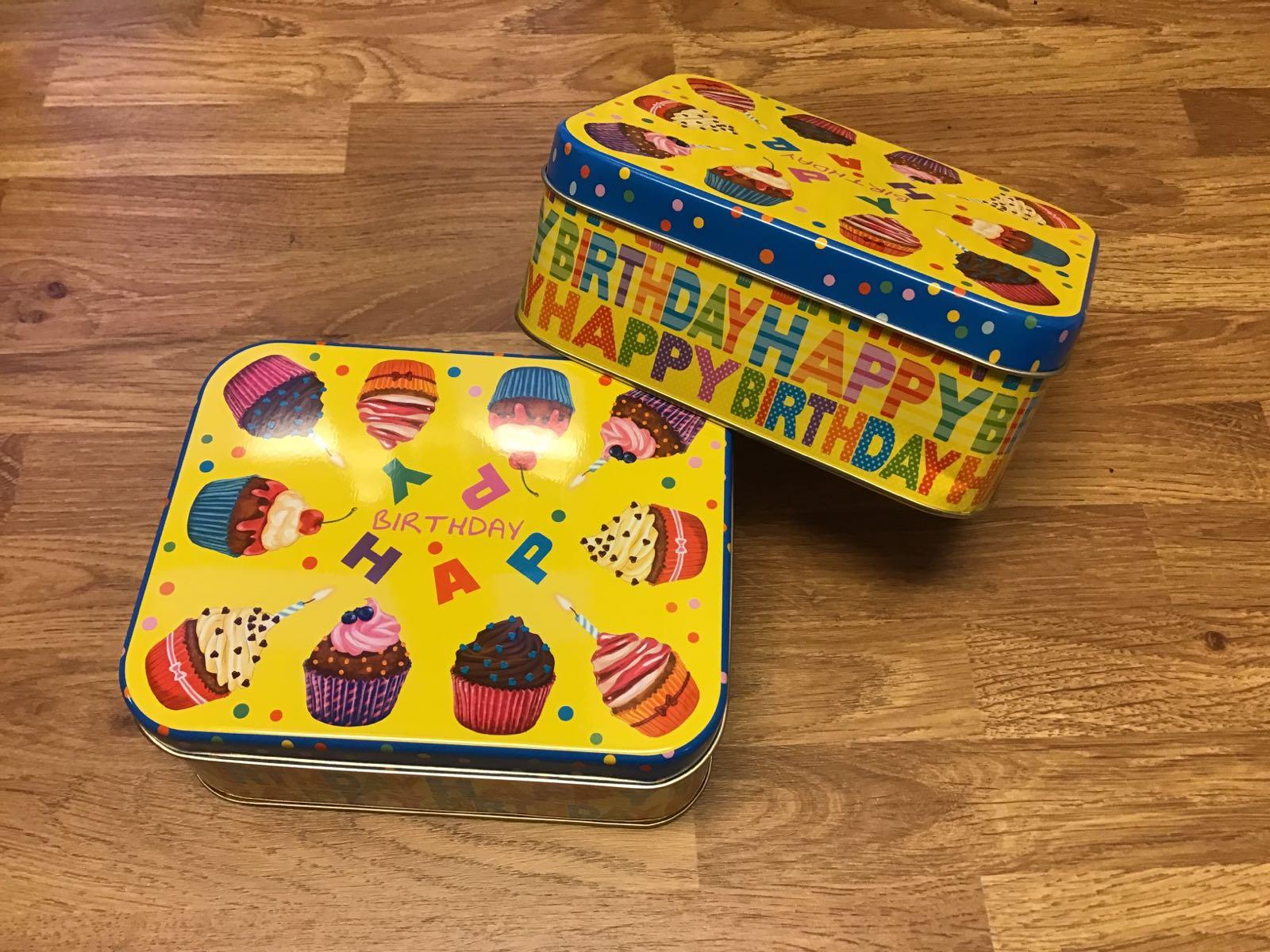 Plåtask Happy birthday