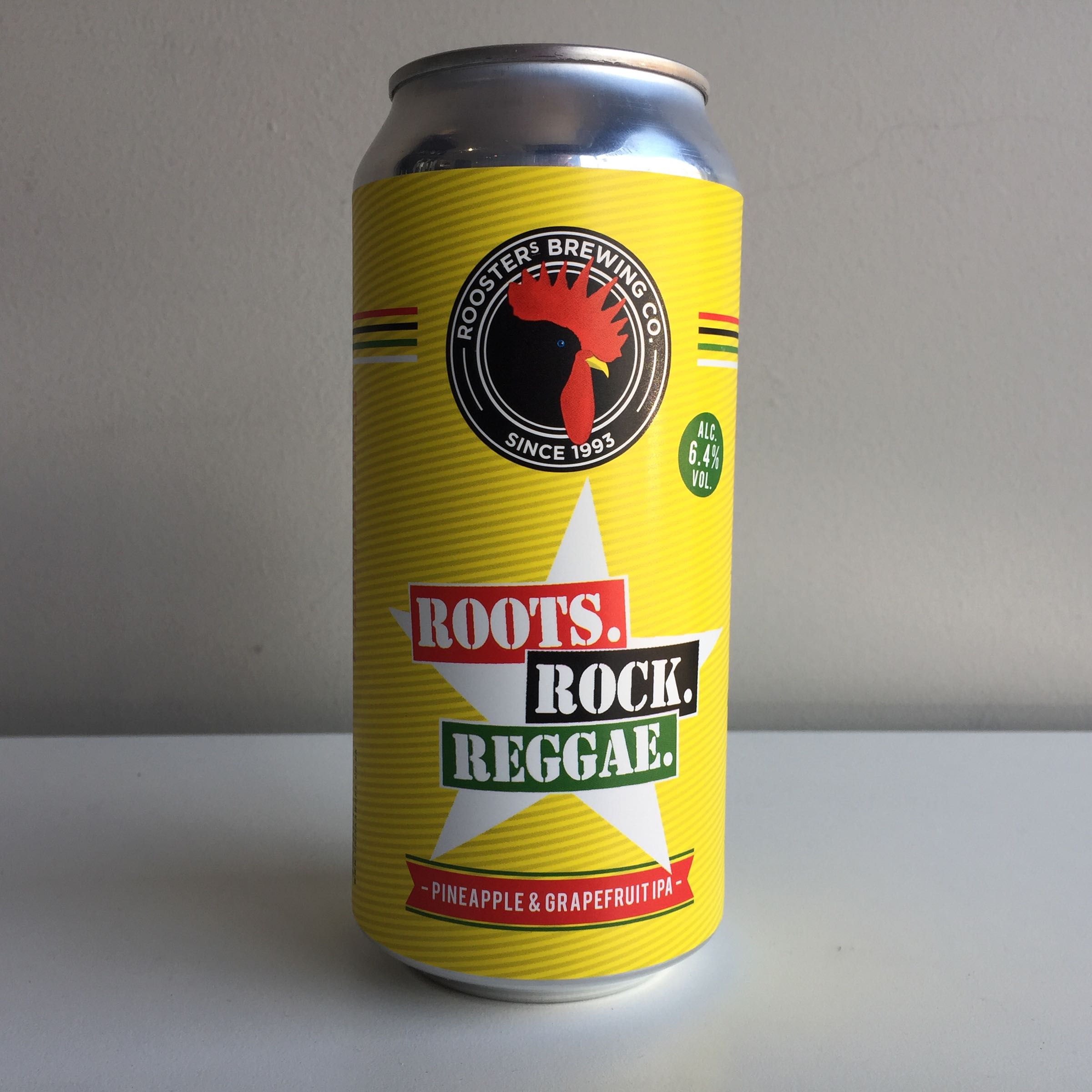 Roosters Brewing Co. 'Roots Rock Reggae' Pineapple & Grapefruit IPA 440ml 6.4%