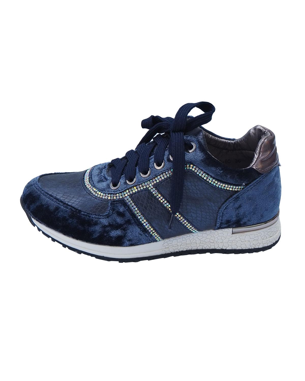Samettiset kävelykengät, sininen
