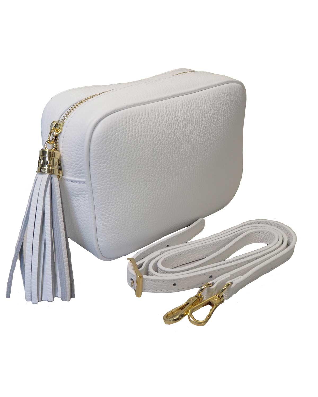 Kameralaukku, valkoinen