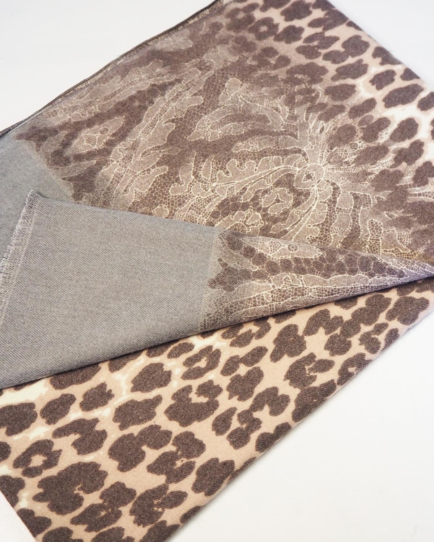 Cashmere-viskoosi huivi, ruskea leopardikuvio