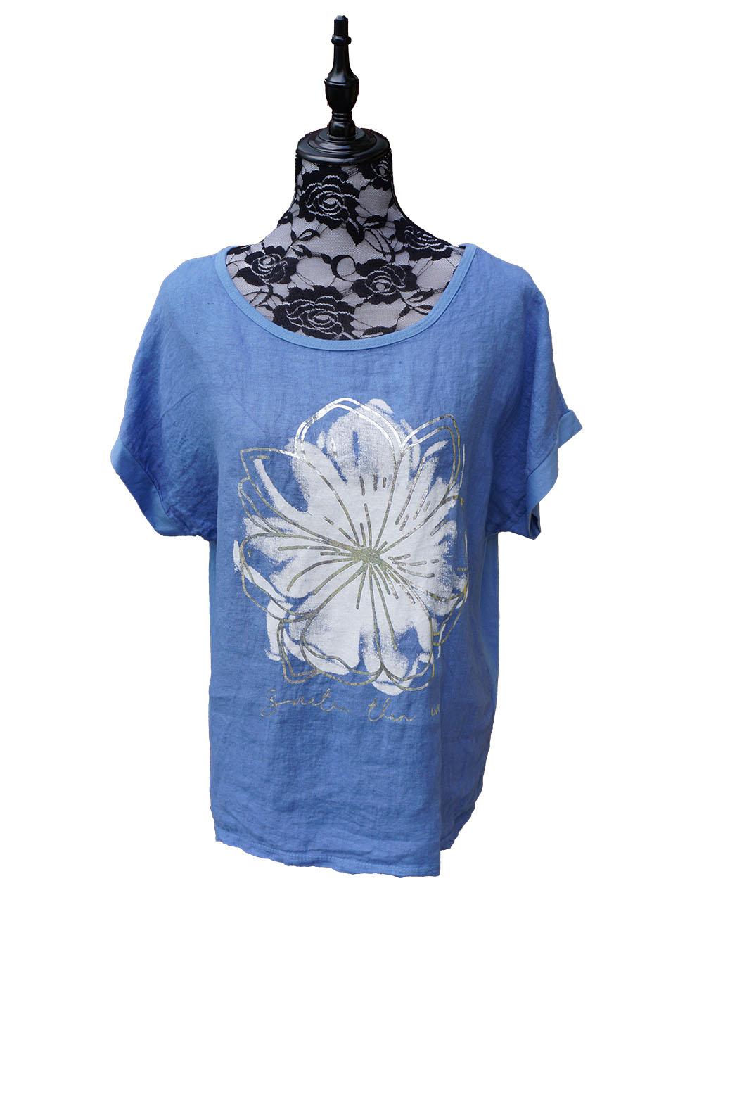 Sininen kukka t-paita