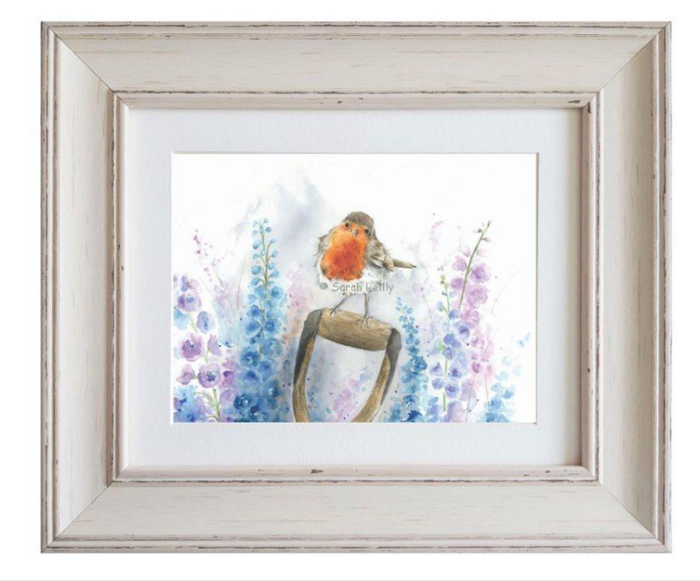 Rosie Robin Framed Print by Sarah Reilly 28cmx33cm