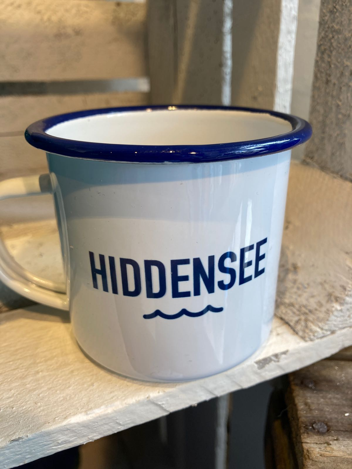 Hiddensee Emaille-Tasse