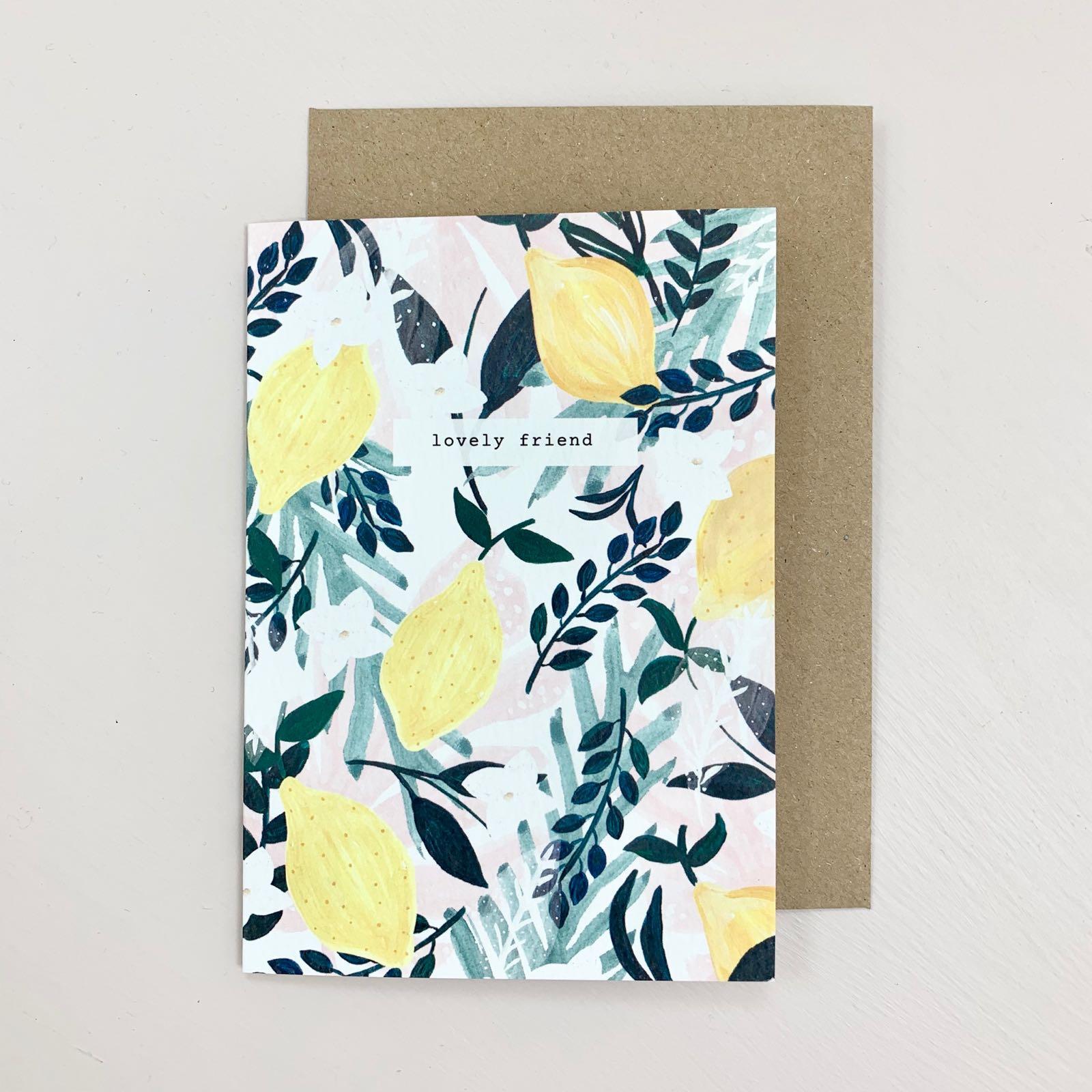 Lovely Friend Lemons Card