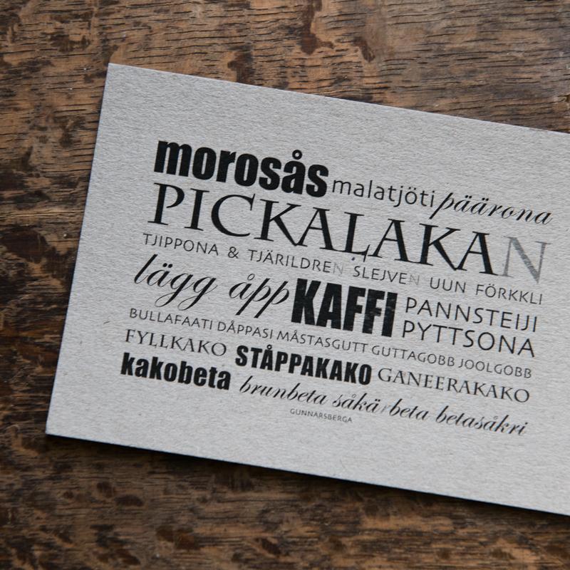 Dialektkort - morosås