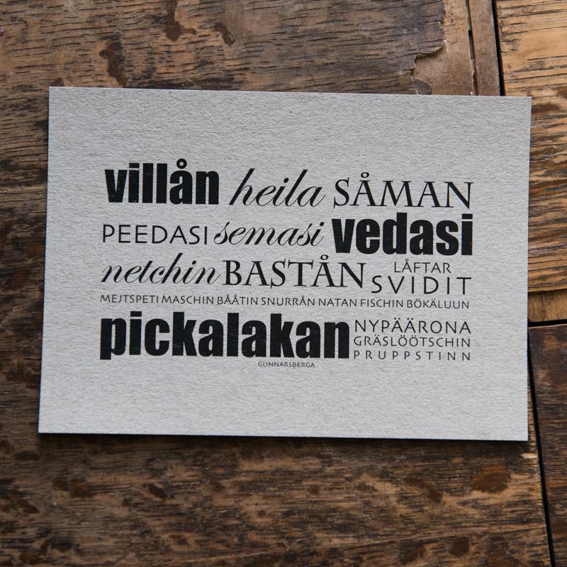Dialektkort - villån
