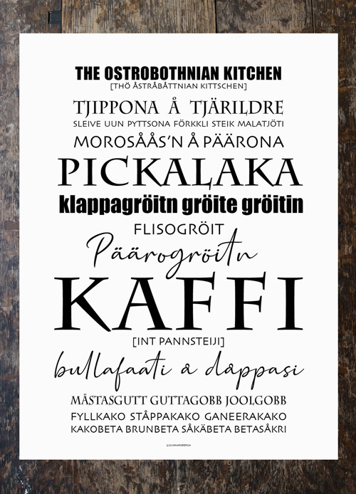 Poster - Ostrobothnian Kitchen