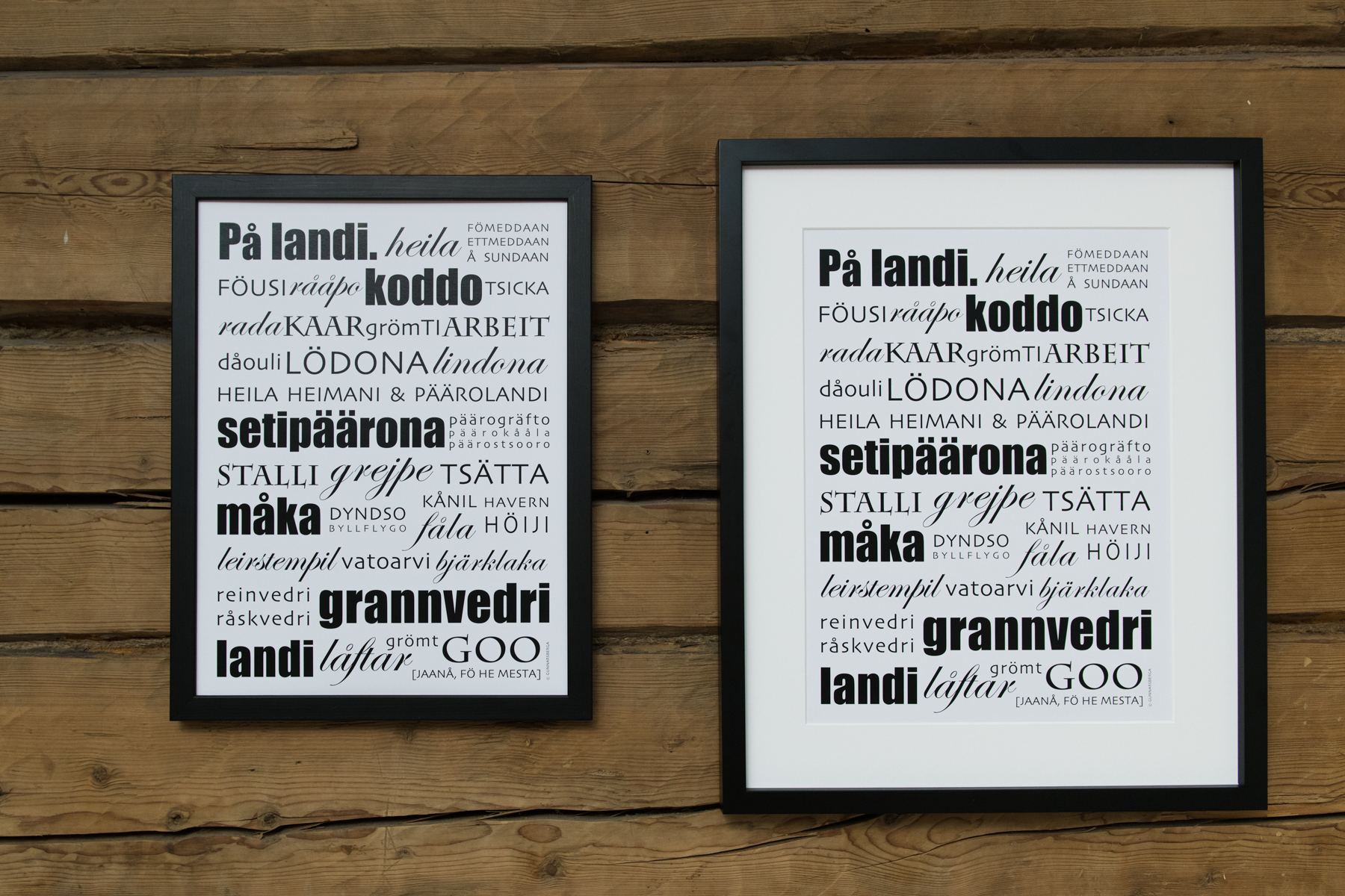 Landi i Essi - dialektposter