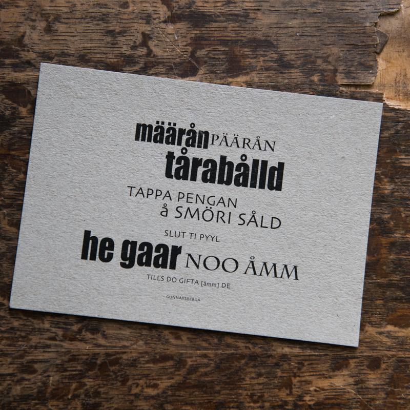 Dialektkort - määrån päärån