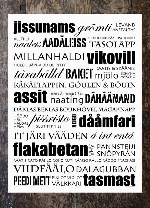 Poster Jissunams - Nyykaabi blandning