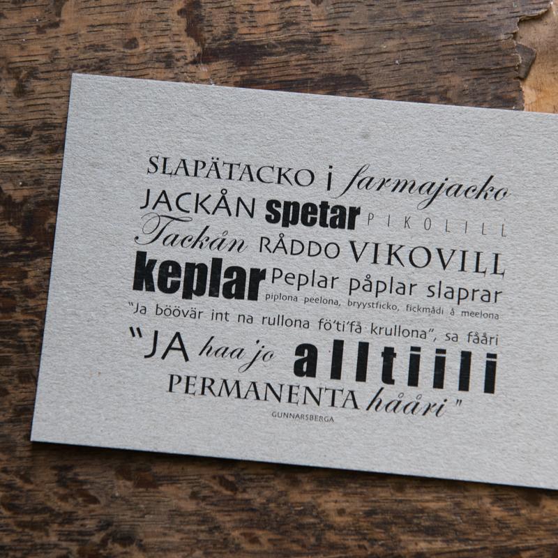 Dialektkort - slapätacko