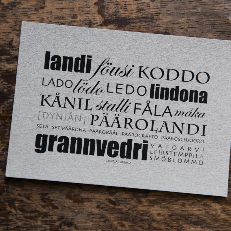 Dialektkort - landi