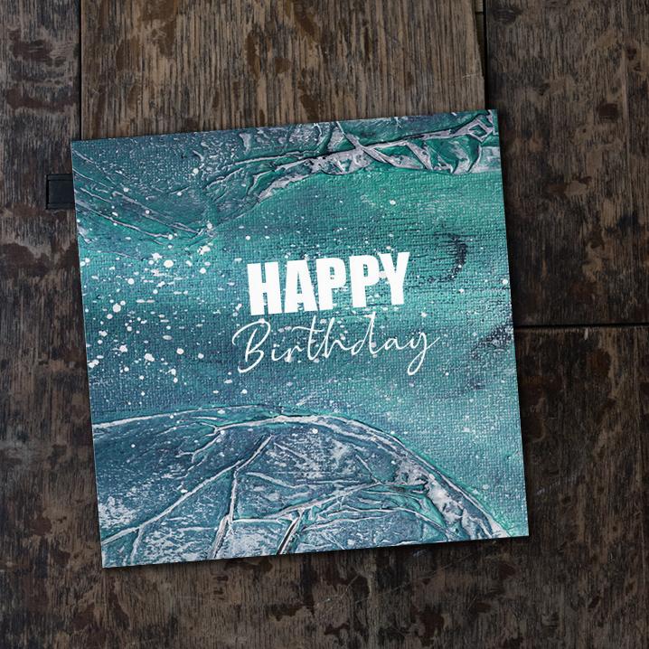 Happy Birthday - vikt kort
