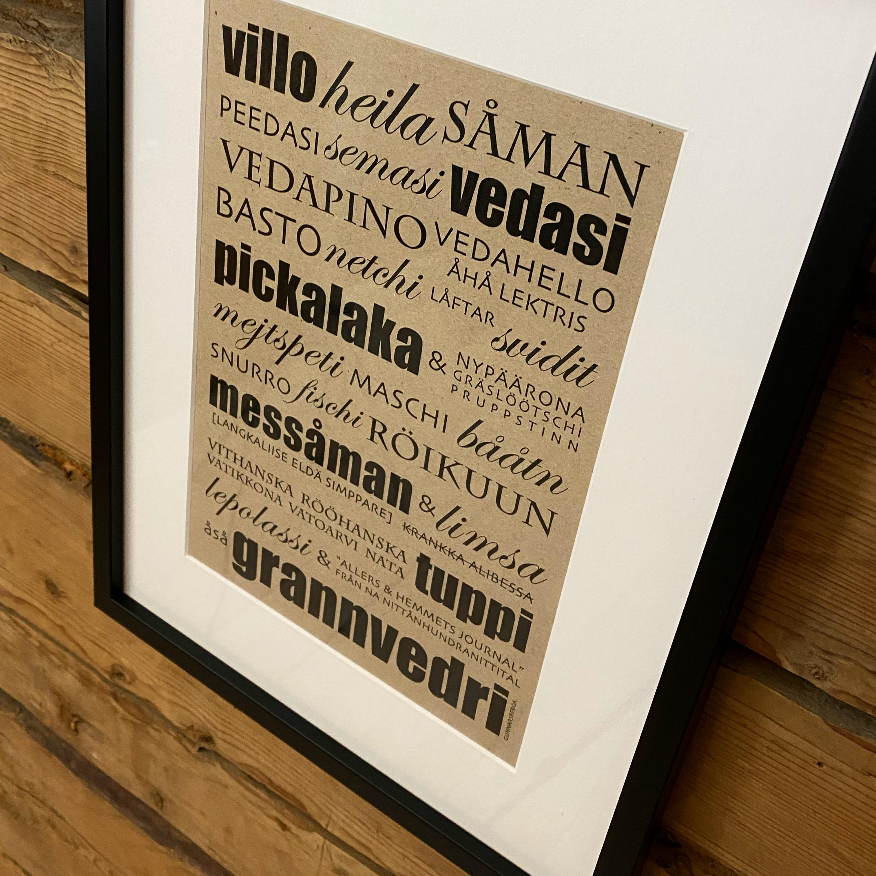 Villån/Villo Tavla