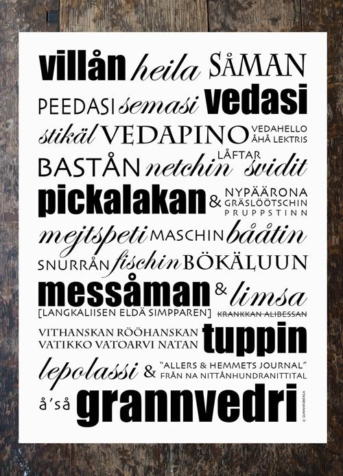 """Poster """"Villån"""" 30x40"""