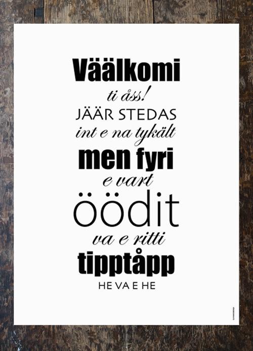 Poster Väälkomi