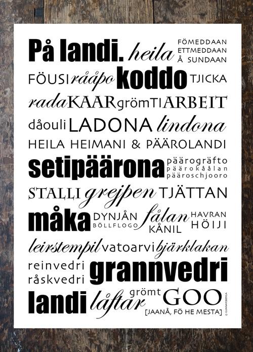 "Poster ""På landi"""