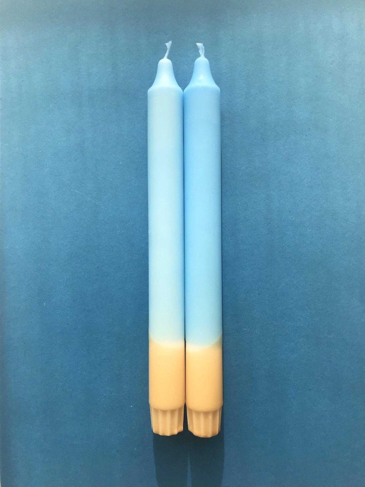 "2 Kerzen ""Vitamin Sea"" Hellblau*Beige"