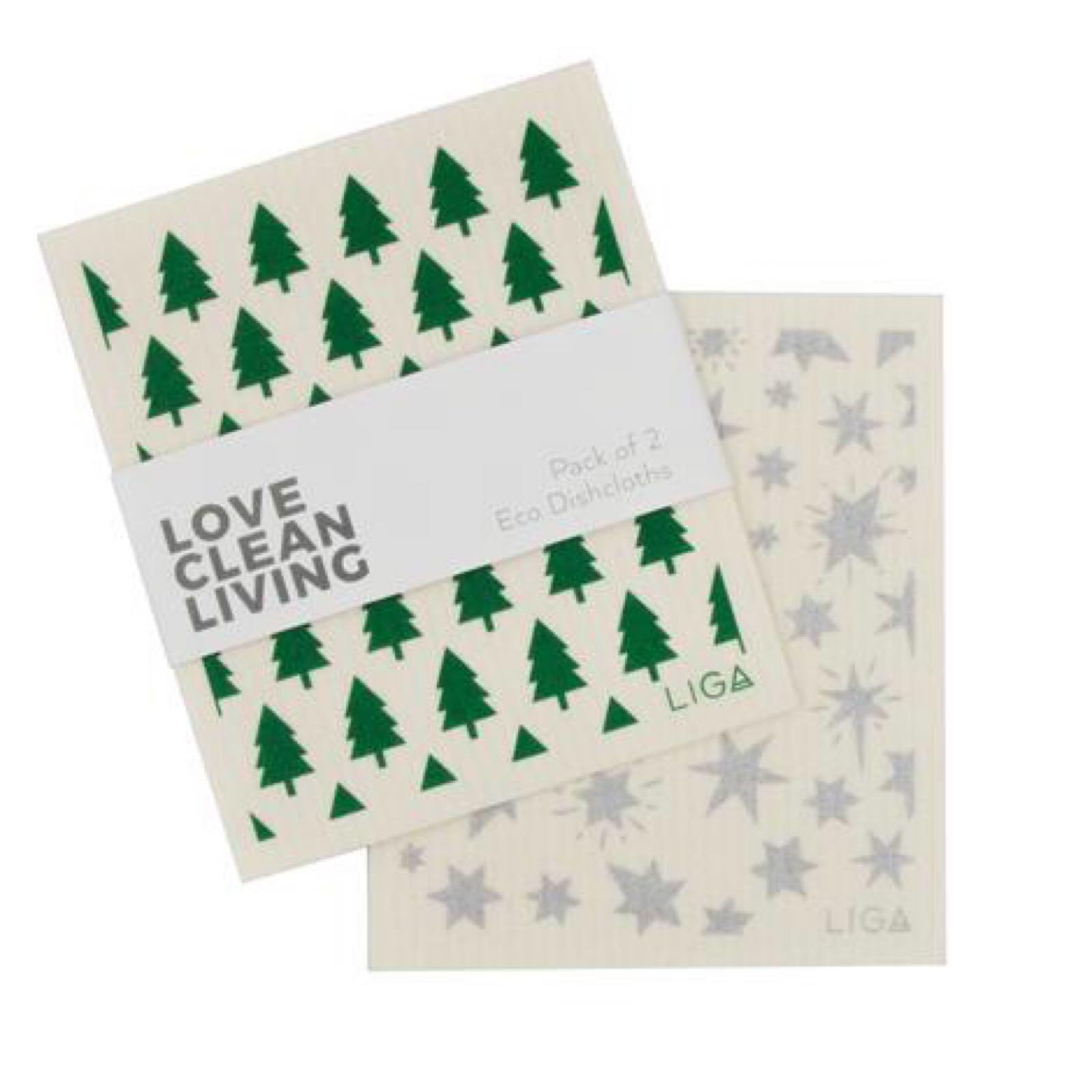 Eco Dishcloths - Tree and Star