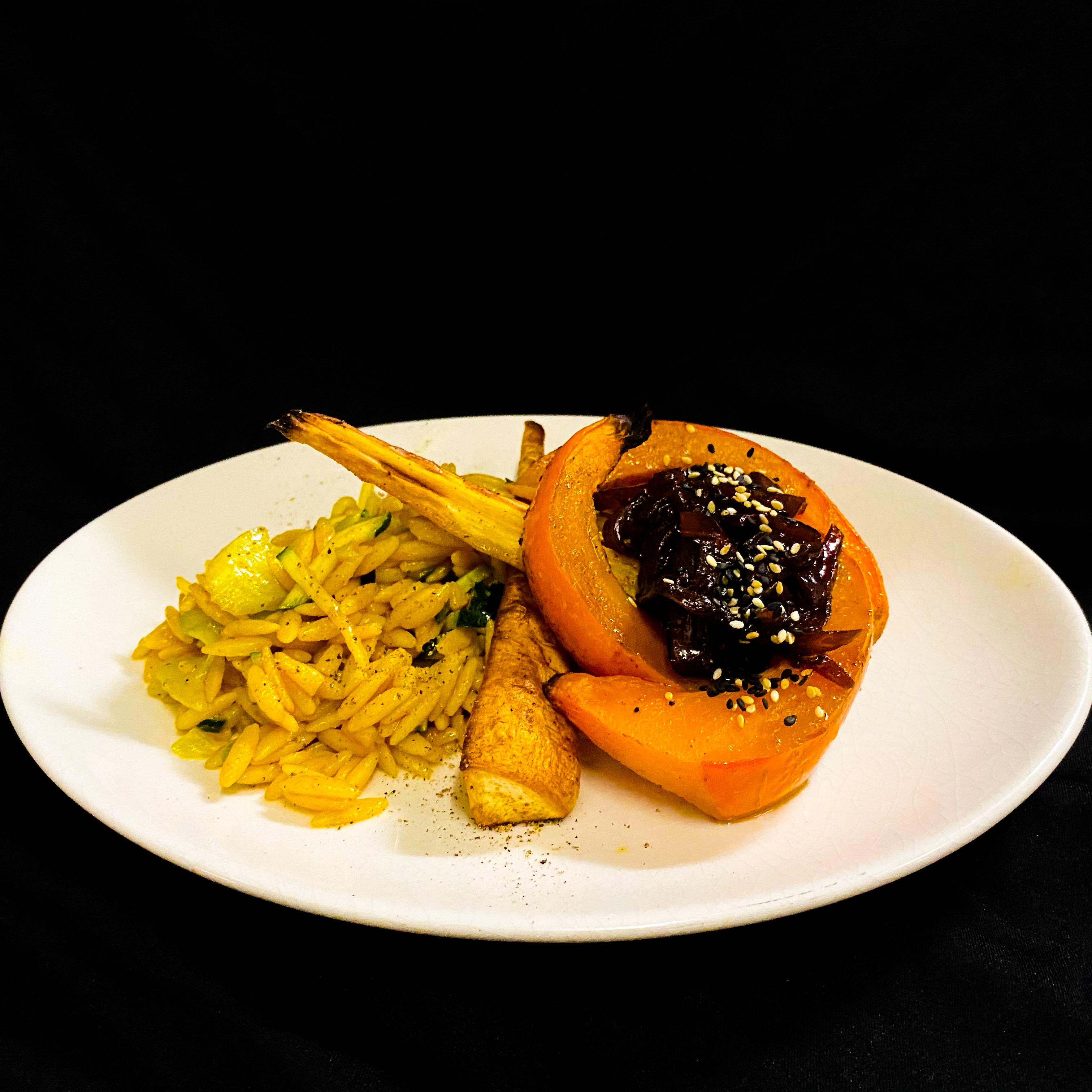 Kürbis & Pastinaken Pfanne ( vegan )