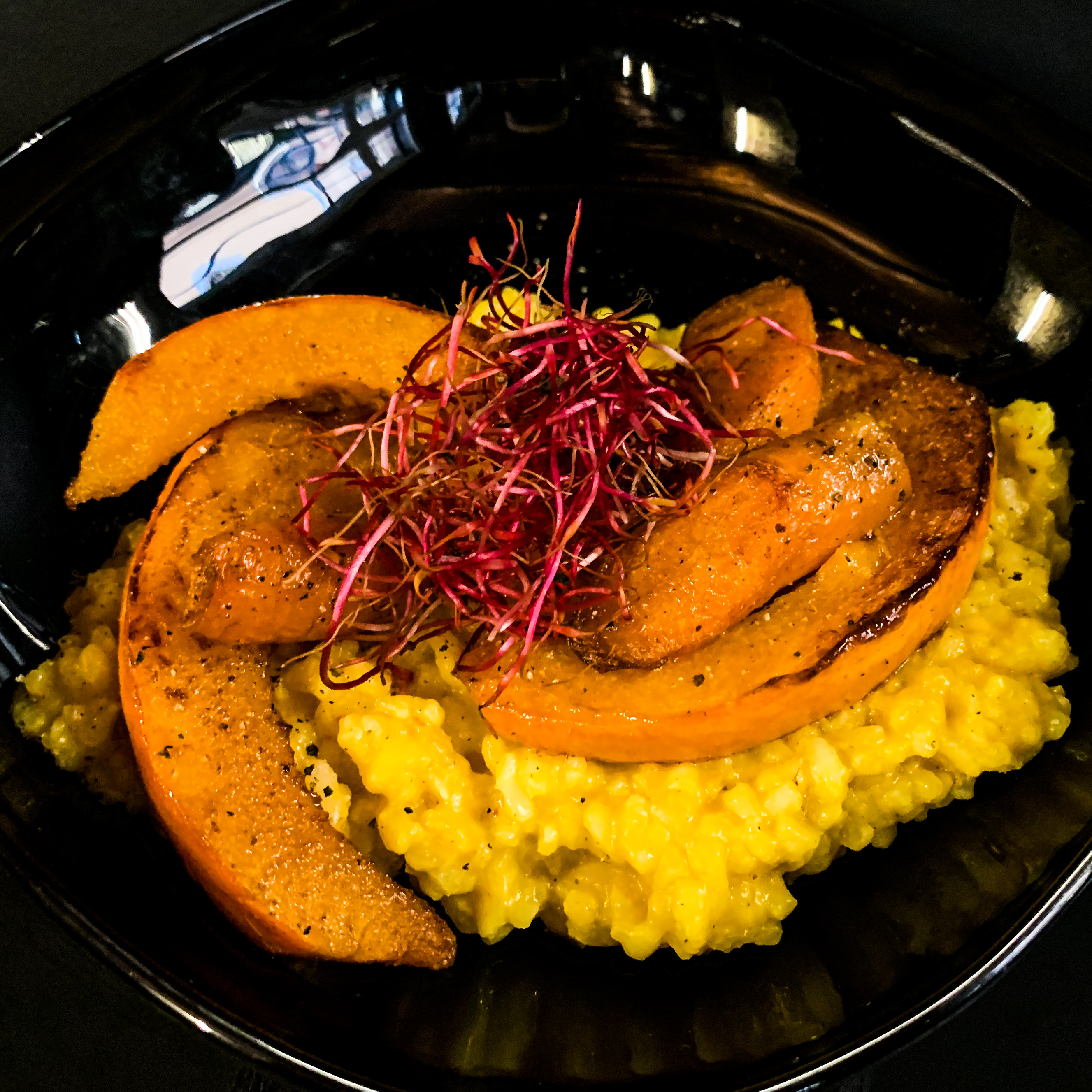Kürbis-Karotten-Risotto