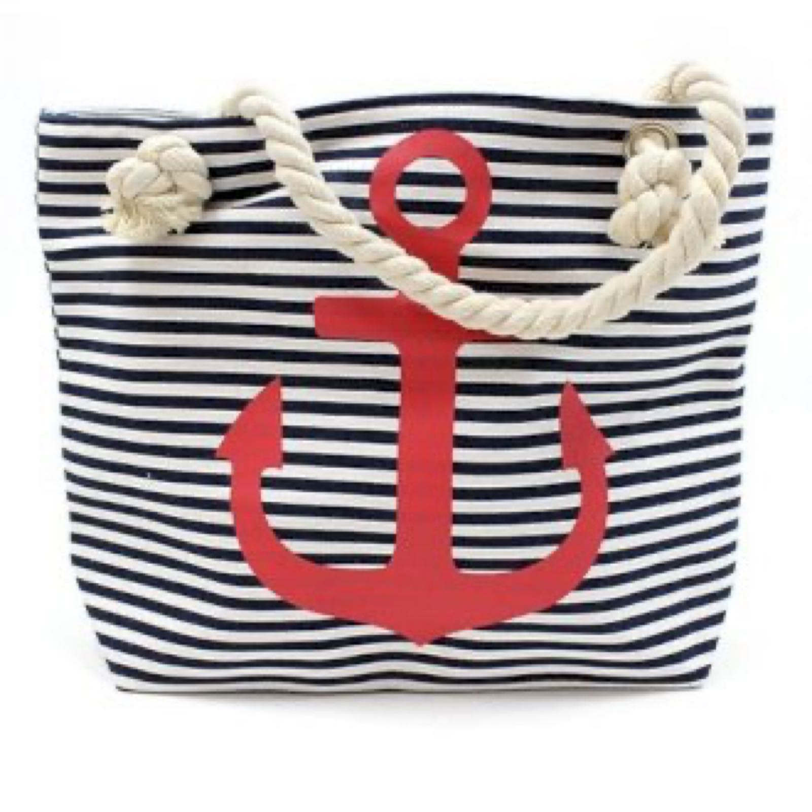 Red Anchor Rope Handle Bag