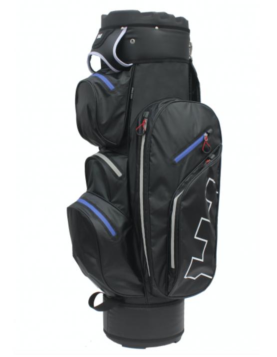Golf Copenhagen 100% vandtæt golfbag med divider - sort/blå